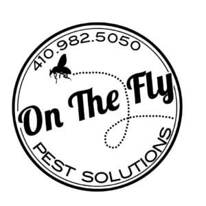 On The Fly Pest Solutions logo with company phone number